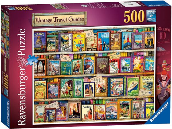 RAVENSBURGER 14752 Vintage Travel Guides 500pc Jigsaw